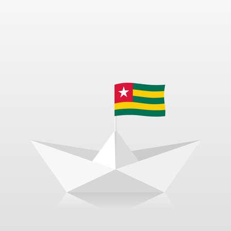 Paper boat with togo flag 版權商用圖片 - 159959481
