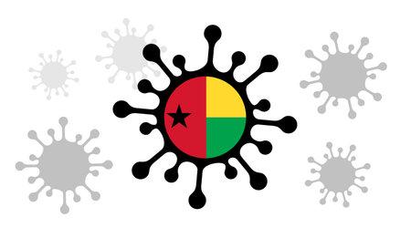 virus icon and guinea-bissau flag 向量圖像