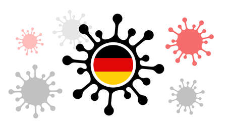 virus icon with  germany flag 向量圖像