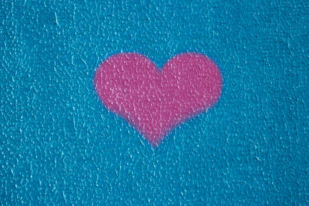 background texture wall plaster barbed not equal blue putty outside heart love pink