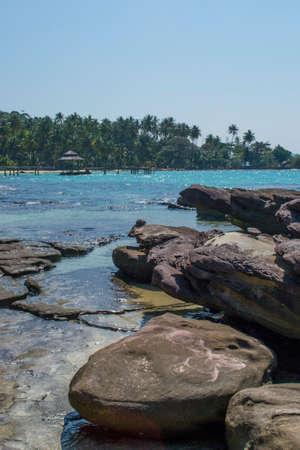 timeless: rock on the tropical beach
