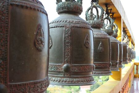 view: Thai bell at Temple in Kanchaburi Thailand