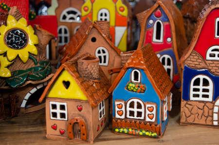Pueblo consta de casas de cerámica
