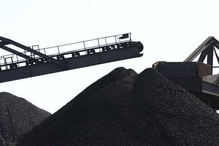 A section of coal site Stock Photo