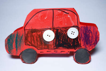 childs art in the form of a vehicle