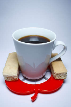 Coffee in a mug with two rusks Stock Photo - 1365715
