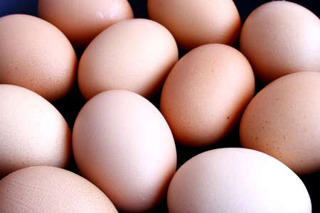 fresh eggs lying in a frying pan Stock Photo - 2494551
