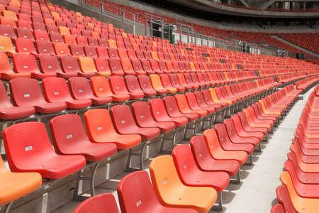 nelson mandela: rows of seats in the nelson mandela bay stadium