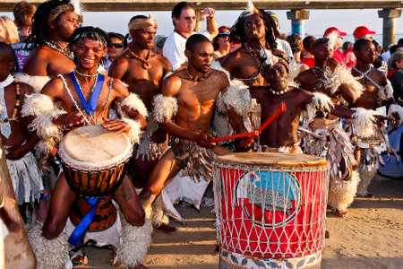 African dancers and drummers at the Ironman South Africa Port Elizabeth13 April 2014