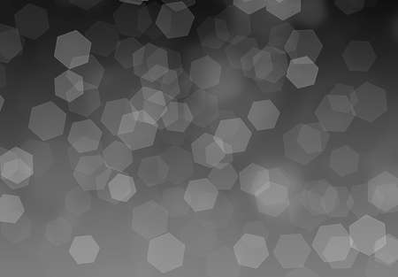 hexagonal shaped: hexagonal shaped bokeh on a black to white gradient Stock Photo