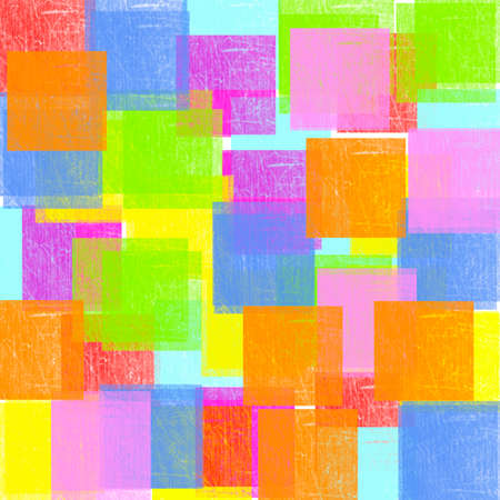 pastel shades: Pastel shades in a square format on a white background Stock Photo