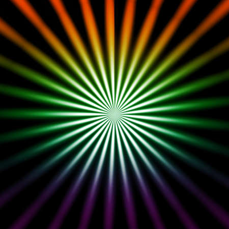 bright colors: bright coloured starburst background on a black background