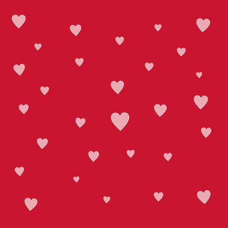 loveable: Small white hearts scattered over a red background