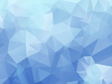 winter blues: New triangle background in a modern style in shades of blue
