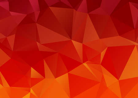 consisting: red and orange modern background consisting of uneven sized triangles