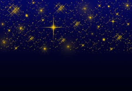 blinking: Night sky background on dark blue with blinking stars