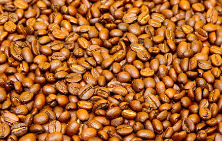 roasted: delicious roasted coffee beans as a background or wallpaper