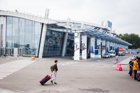 hasid: KYIV, UKRAINE - MAY 27: International Airport Kyiv Zhulyany, outside view Airport
