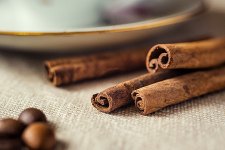 cinnamon sticks closeup