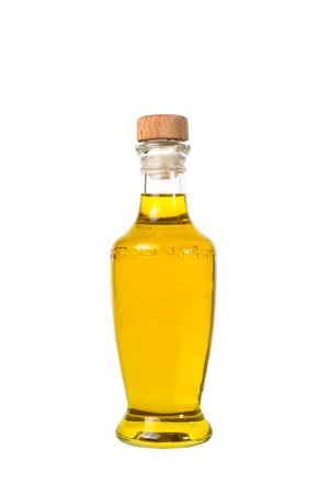 extra virgin olive oil and sunflowerseed oil jars isolated on a white background,bottle oil plastic big ,Bottle for new design Stock Photo