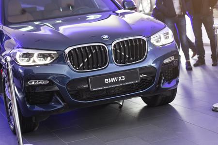 31 of March, 2018 - Vinnitsa, Ukraine. BMW X3 presentation in showroom 新闻类图片