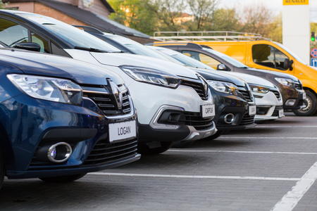 Vinnitsa, Ukraine - April 20, 2018. Renault concept car - presentation in showroom