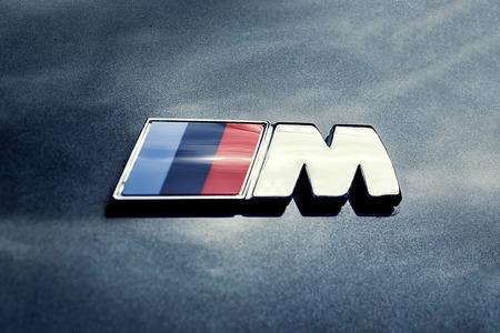 24 of April, 2018 - Vinnitsa, Ukraine. BMW 750i  concept car - logo