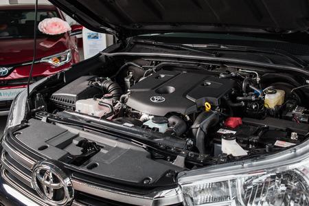 Vinnitsa, Ukraine - March 18, 2018. Toyota Hilux concept car - under the hood