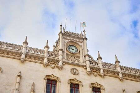 Lisboa, Portugal - December 12, 2018: Entrance of the Rossio train station