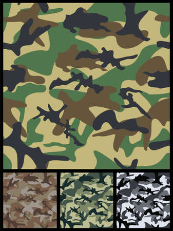 Seamless Military Camouflage Patterns for print or textile industry