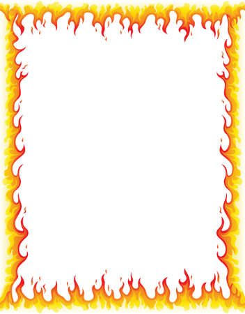 Fire Border Illustration