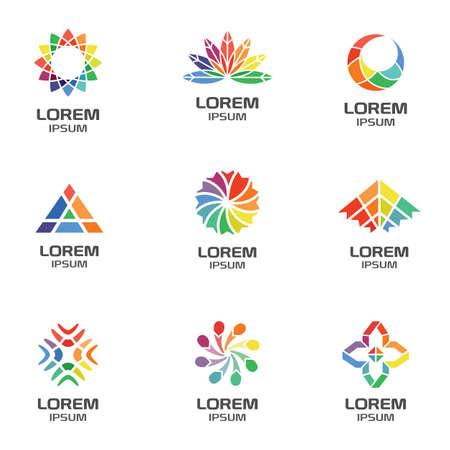 Ensemble de logos géométriques abstraits pour entreprise