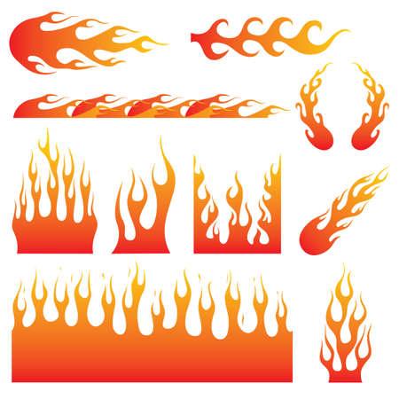 Flame Decals. Great for vehicle graphic or tattoo design Vektoros illusztráció