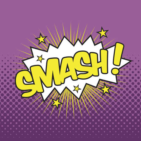 SMASH! Wording Sound Effect for Comic Speech Bubble