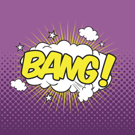 BANG! Wording Sound Effect for Comic Speech Bubble