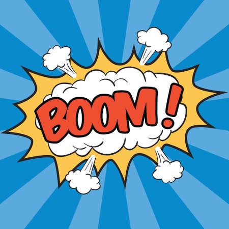 BOOM! Formulering geluidseffect voor komische tekstballon