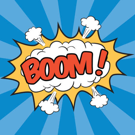 BOOM! Wording Sound Effect for Comic Speech Bubble