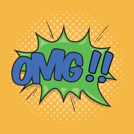 OMG!! Wording Sound Effect for Comic Speech Bubble Stock Vector - 122720935