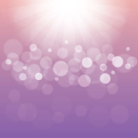 Abstract Light Purple Background with Bokeh Defocused Lights