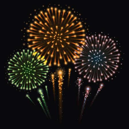 Illustration vectorielle de feux d'artifice Vecteurs