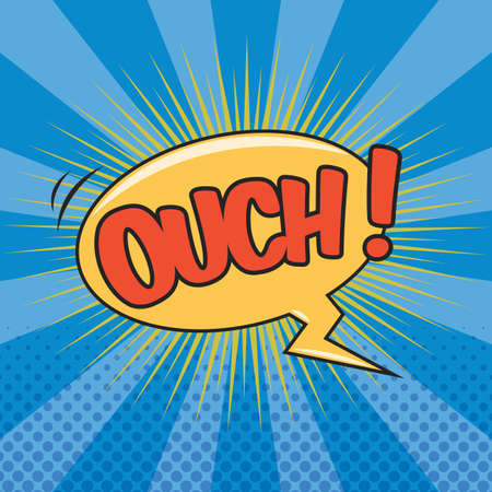 OUCH! Wording Sound Effect for Comic Speech Bubble