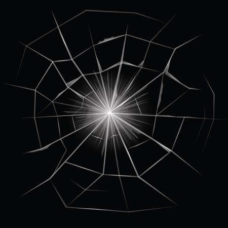 Cracked Glass Illustration