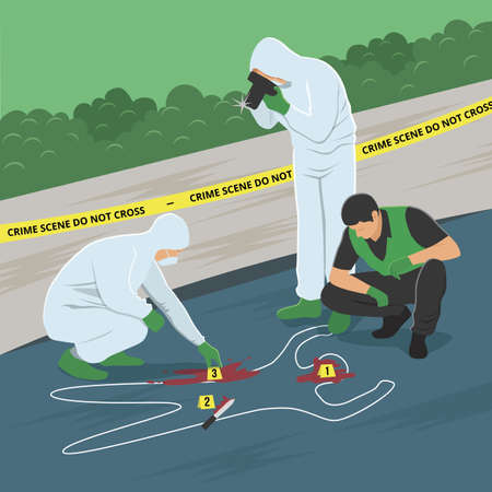 Crime Scene Investigation Illustration