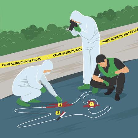 Enquête sur les lieux du crime