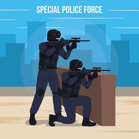 Special Police Force Vector Illustration Illustration