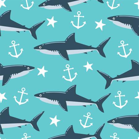 Modèle sans couture de requin