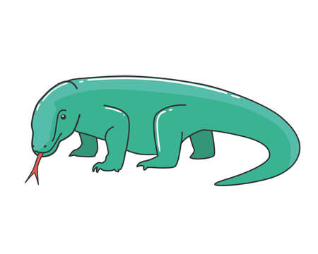 Komodo Dragon Vector Illustration 版權商用圖片 - 123595149