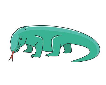 Komodo Dragon Vector Illustration 向量圖像