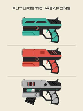 Futuristic Gun Illustrations  イラスト・ベクター素材