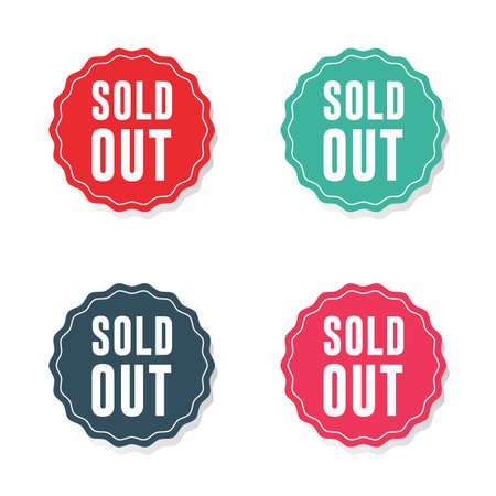 Sold Out Sticker Labels